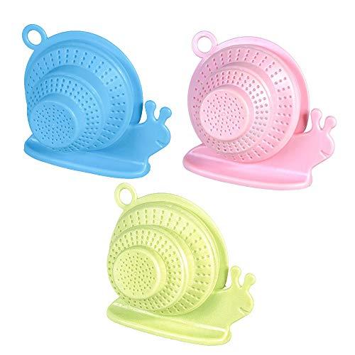 ART-Style Silikon Schnecken-Abflusssieb, 3-teilig, faltbar, Teleskop-Abflussschutz, Müllentsorgungskorb, Reinigungswerkzeug für Küche, Bad und Badewanne