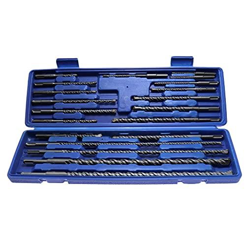 ZZABC WXGJGYYP 20pcs Electric Hammer Drill Bit Set Sds Chisel Plastic Box Shank Impact Rotary Concrete Masonry Drilling Grooving New