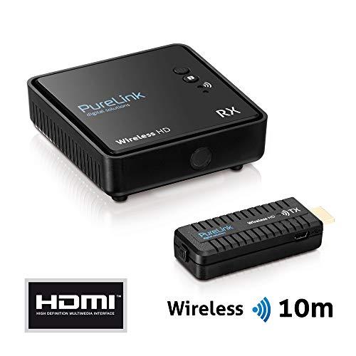 PureLink WHD030Wireless HD Extender Set (Empfänger und Sender) für HDMI mit Full-HD 1080p 3D, kabellos, unkomprimiert, Reichweite max. 10m, schwarz