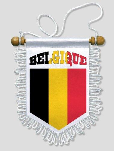 KOO Interactive - Belgien - 13 x 15 cm - Auto Wand Fahne Flagge Wimpel