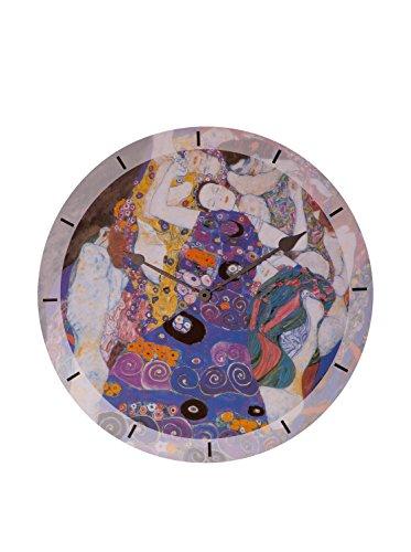 Artopweb Klimt Virgin - wandklokken diameter 60 cm, hout, meerkleurig, 60 x 60 cm