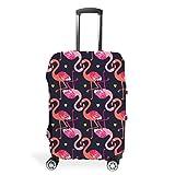 Funda para equipaje de viaje, diseño de flamenco, de varios tamaños, para muchas maletas., White (Blanco) - STELULI-XLXT-24