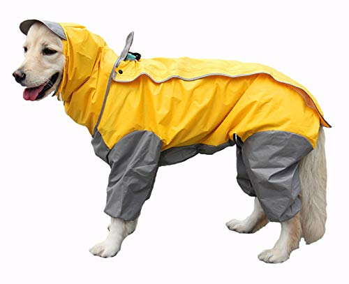 GabeFish 9 Colors Optional, 10 Sizes, Waterproof 4 Legs Pets Raincoat for Small...