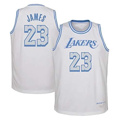 HZHEN Jersey de Baloncesto de la NBA, Lebron James 23# Lakers Jerseys Fresco Transpirable Tela Tela Camisa Ventilador Sin Mangas Chaleco,XL (180~185CM / 85~95KG)