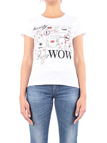 T Shirt a Manica Corta Donna Liu Jo Bianca