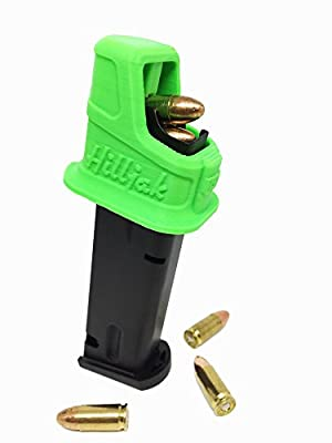 Hilljak Speed Loader Designed to fit Glock 17, 19, 26, 34, 22, 23, 27, 35 Quickie Loader Neon Green