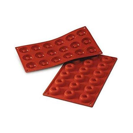 Silikomart 20.010.00.0060 SF010 Moule Forme Savarin Taille Mini 18 Cavités Silicone Terre Cuite