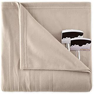 Pure Warmth Comfort Knit Heated Electric Blanket Queen Taupe