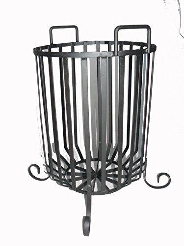 Garden fire brazier basket wrought iron