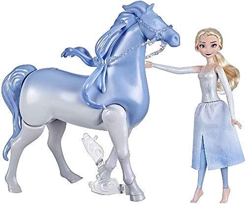 Disney La Reine des Neiges 2, Poupee Princesse Disney Elsa 30 cm et son cheval Nokk interactif 23 cm