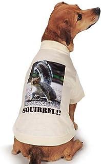 تيشيرت مطبوع عليه صورة السنجاب الحقيقي من Casual Canine مقاس كبير، بني