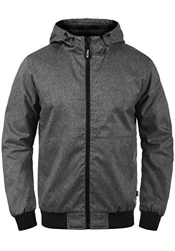 Blend Neil Herren Softshell Jacke Funktionsjacke Übergangsjacke mit Kapuze, Größe:XL, Farbe:Black (70155)