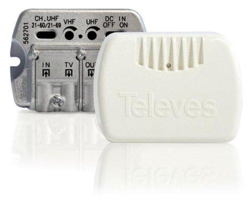 Televes 562713 - Amplificador interior serie nanokom 1e/2stv easyf vhf/uhf