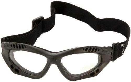 Mil-Tec Commando Brille Air Pro schwarz klar