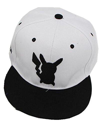 PJ Baseball Cap Pokemon Pocket Monster Go Group Cap Mütze (weiß)