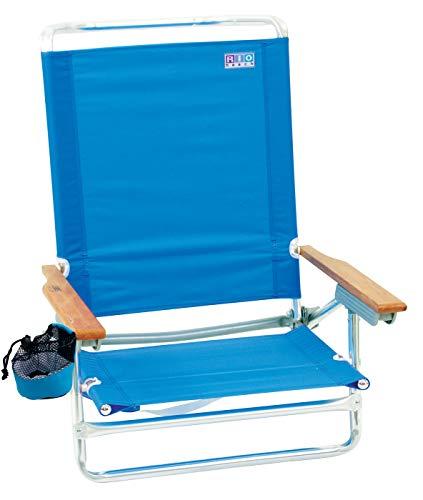 Rio Beach Classic 5 Position Lay Flat Folding Beach Chair - Perri Blue