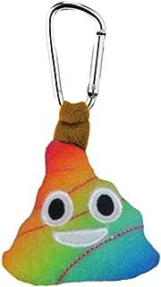 KIDS PREFERRED Emoji Rainbow Poop Backpack Clip Plush