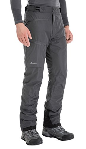 Clothin Men's Insulated Ski Pant Fleece-Lined Waterproof Snow Pants Grey M (Regular Fit)