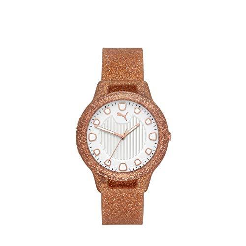 Puma Reset - Reloj para Mujer de Silicona Oro Rosado brilloso V1 - P1002