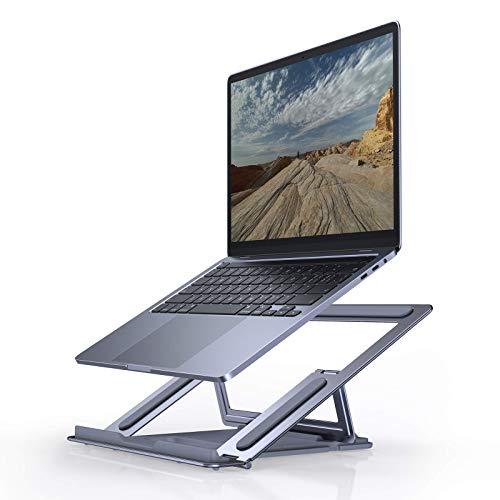 YLJJ Soporte Ajustable para computadora portátil la Altura del Escritorio, Soporte ergonómico Vertical, Accesorios Plegable, Compatible con computadoras portátiles de 10-15.6 Pulgadas