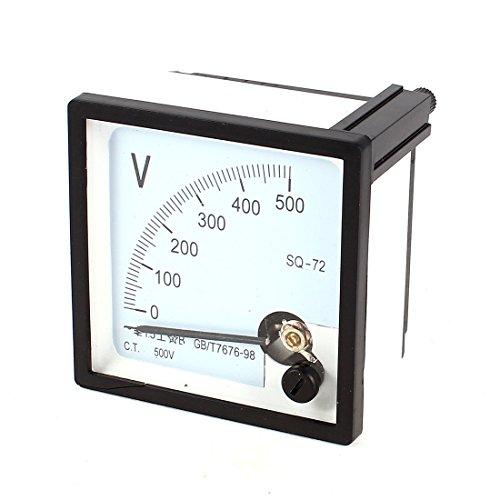Sourcingmap - Ac 0-500v panel de rango de medición de montaje cuadrados voltímetro-72 de 72 mm x 72 mm