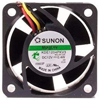 ANBE Replacement Fan for Sunon MagLev KDE1204PKV3 40x20mm-3pin 5200RPM 6.3cfmOnly 18dBA