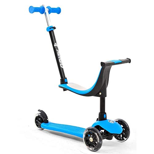 Best Prices! RENKUNDE Children's Scooter 3 Pedals Flash PU Wheel Suitable for Children Boys and Girl...