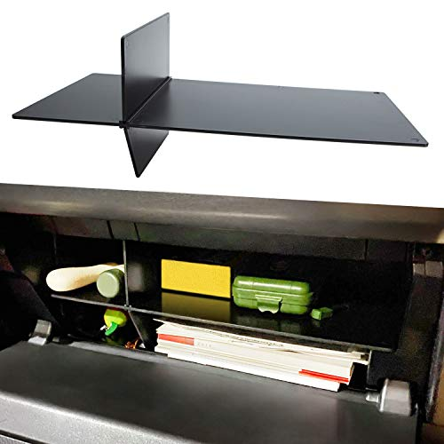 JDMCAR Glove Box Organizer Compatible with Toyota 4Runner Accessories 2010 - 2020 2021 and Lexus GX 460 (2010-2021),Insert ABS Black Materials Compartment Tray - New Design