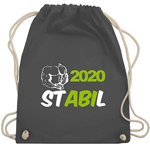 Shirtracer Abi & Abschluss - STABIL - Abi 2020 - Unisize - Dunkelgrau - Geschenk - WM110 - Turnbeutel und Stoffbeutel aus Baumwolle