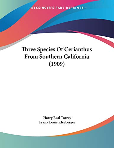 Three Species Of Cerianthus From Southern California (1909)