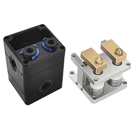 Yihaifu Impresora 3D de Doble Extrusora de Boquilla del Cabezal de 0,4 mm Cabeza de Boquilla de 0,4 mm Boquilla 3D Impresión 3D Accesorio de la máquina de Ultimaker 2