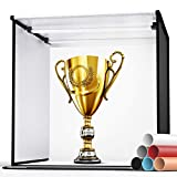Photo Light Box, SAMTIAN 24'/60cm Professional Studio Box 6 Colors Backdrops Folded Shooting Tent 126 LED Lights with Continuous Lighting Portable Booth Table Top Photography Lighting Kit