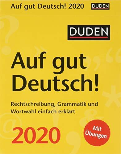 Duden Auf gut Deutsch! Duden. Tischkalender 2020. Tageskalendarium. Blockkalender. Format 11 x 14 cm