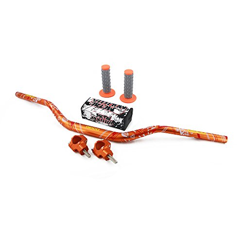 JFGRACING Orange Motorcycle 1 1/8