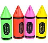 Crayon Piggy Banks (4 Pack)