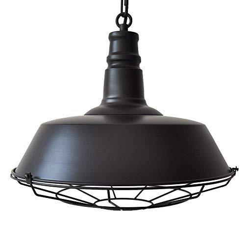 Entrepôt/étable extérieurs d'éclairage de suspension de lampe de plafond de cage industrielle industrielle vintage de fil