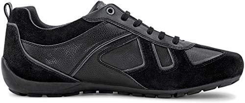 Geox Uomo Basso RAVEX, Uomini Sneaker,Scarpe Sportive,Sneaker,Scarpa Stringata,Traspirante,Schwarz,45 EU / 10.5 UK