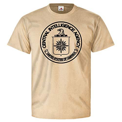 CIA Stempel Central Central Intelligence Agency Zentraler - T Shirt #10671, Größe:XXL, Farbe:Sand
