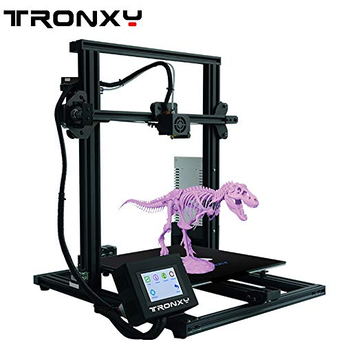 TRONXY XY-3 3D Printer 310310330 Semi-Assembled with Filament Sensor and Power Resume, All Metal Frame with Flex Magnetic Sticker Adjustable by Eccentric Nuts