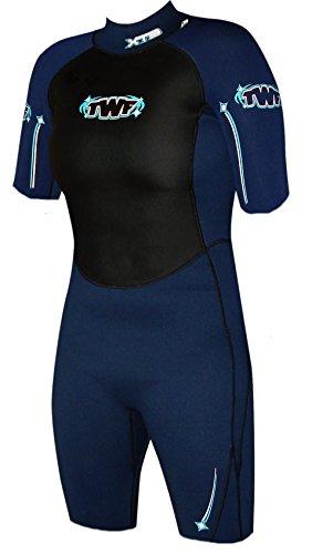 TWF Xt3 - Neopreno Corto para Mujer, Mujer, XT3 Shortie, Azul Oscuro, Size 14.0