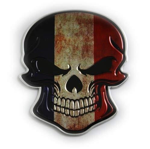 Maksim-003 Cráneo Etiquetas engomadas del Coche de la Bandera de decoración Personalizada calcomanías vehiculares Cuerpo del Tanque Banderas cráneo de Graffiti de Metal-Remolque (Color : 5)