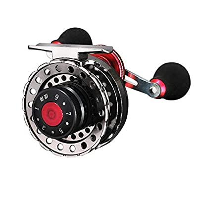 YunZyun Fishing Wheel, Magnetic Slow Down All Metal Fishing Wheel Micro-Lead Wheel Descending Valve Fishing Wheel, Metal Fishing Wheel Micro-Lead Wheel Descending