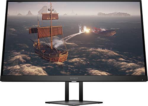 OMEN 27i 2K Gaming Monitor - 27 Zoll Bildschirm, QHD IPS Display, 165Hz, Adaptive Sync, HDMI, DisplayPort, 3xUSB, 1ms Reaktionszeit, höhenverstellbar, Ambient RGB, schwarz