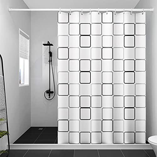 Cortinas de Ducha Baño,Cortina de Ducha Color Blanco Transparente,Cortina de Ducha antimoho Impermeable,Cortina de Ducha para baño de Agua 3D Transparente (120*200cm)