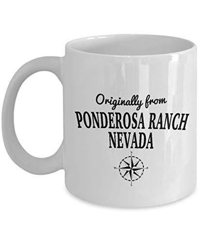 N\A V-Show-Tasse - Ursprünglich von Ponderosa Ranch, Nevada - Coole Keramik-Kaffee-Tasse für die besten Fernseh-Bonanza-Fans der Welt - Geburtstags-Weihnachts-Chanukka-Geschenkbörse