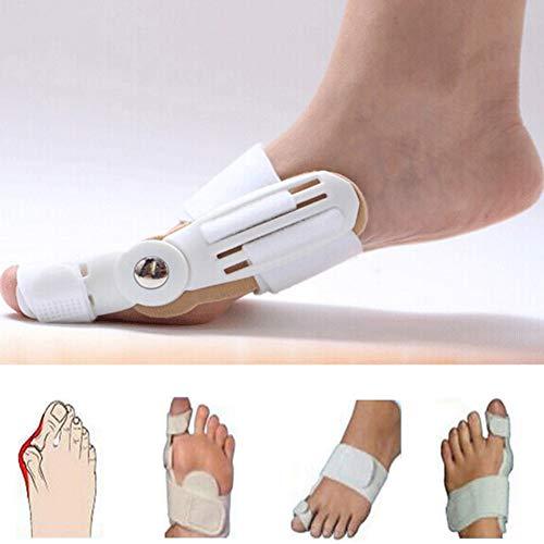 2 Piezas Juanete férula del dedo gordo del pie plancha Corrector de pie alivio del dolor del Hallux Valgus corrección ortopédicos suministros pedicura para el cuidado de los pies