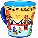 San Francisco Kaffee Tasse ubula Trompete Form mit kunstvollen Farben mit exklusiven urheberrechtlich geschützt ca Bär Magnet