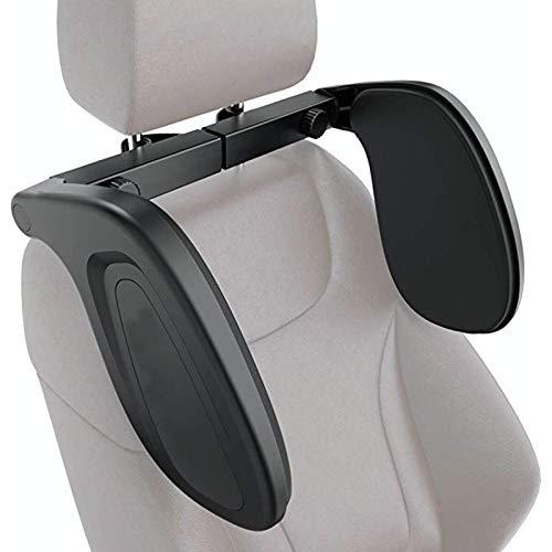 Cojín para dormir, almohada para reposacabezas de coche de viaje con soporte para el cuello, para pasajeros adultos niños