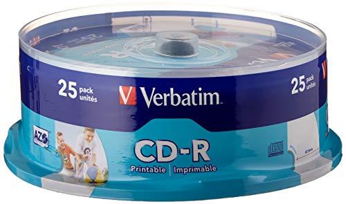 Verbatim CD-R AZO 700 MB - 52-fache Brenngeschwindigkeit - CD-Rohle - Bedruckbar - Kratzschutz - 25 Stück Spindel