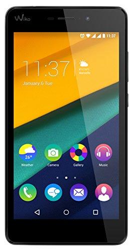 Wiko Pulp Fab 4G LTE Smartphone (13,9 cm (5,5 Zoll) HD IPS-Bildschirm, 1,2 GHz Quad-Core-Prozessor, 16GB interner Speicher, 2GB RAM, Android 5.1 Lollipop) schwarz